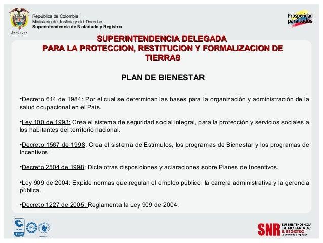 República de Colombia Ministerio de Justicia y del Derecho Superintendencia de Notariado y Registro  SUPERINTENDENCIA DELE...
