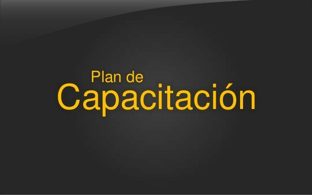 Plan deCapacitación