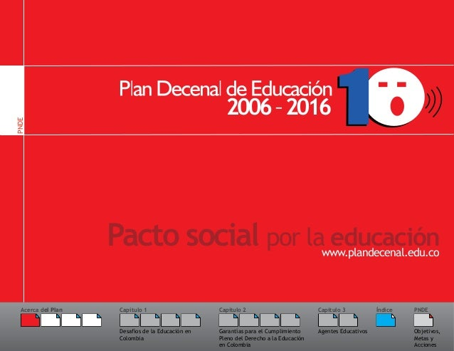PNDE                    Pacto social por la educación                                      www.plandecenal.edu.co  Acerca ...