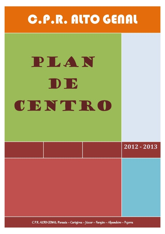 C.P.R. ALTO GENAL PLAN            DECENTRO                                                                         2012 - ...