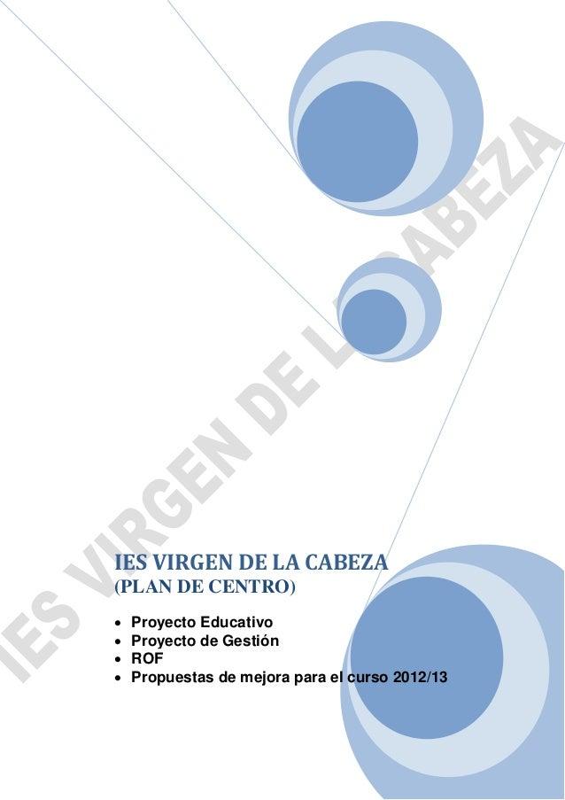 Plan de centro 2012 2013