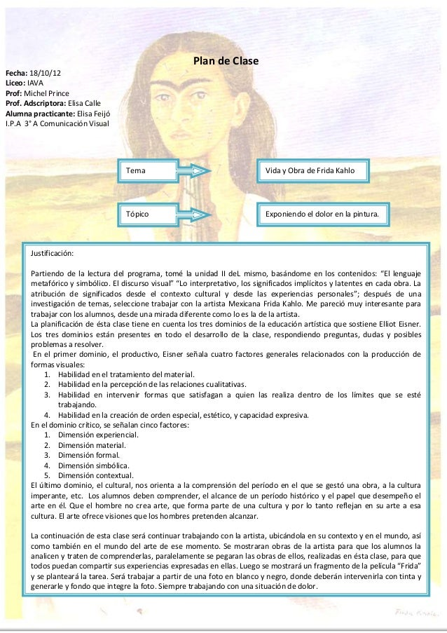 Plan de ClaseFecha: 18/10/12Liceo: IAVAProf: Michel PrinceProf. Adscriptora: Elisa CalleAlumna practicante: Elisa FeijóI.P...