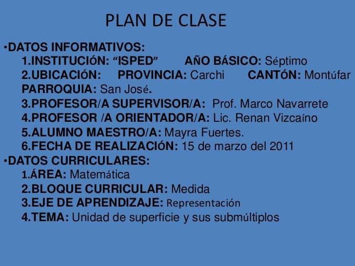 Plan de clase mate