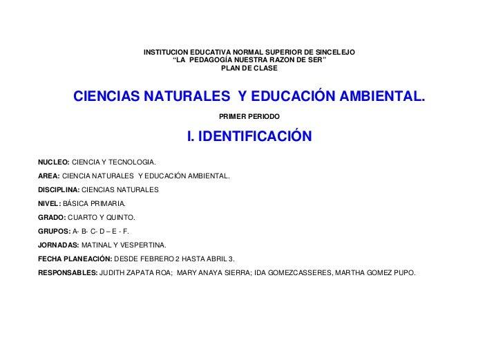 """INSTITUCION EDUCATIVA NORMAL SUPERIOR DE SINCELEJO                                      """"LA PEDAGOGÍA NUESTRA RAZON DE SER..."""