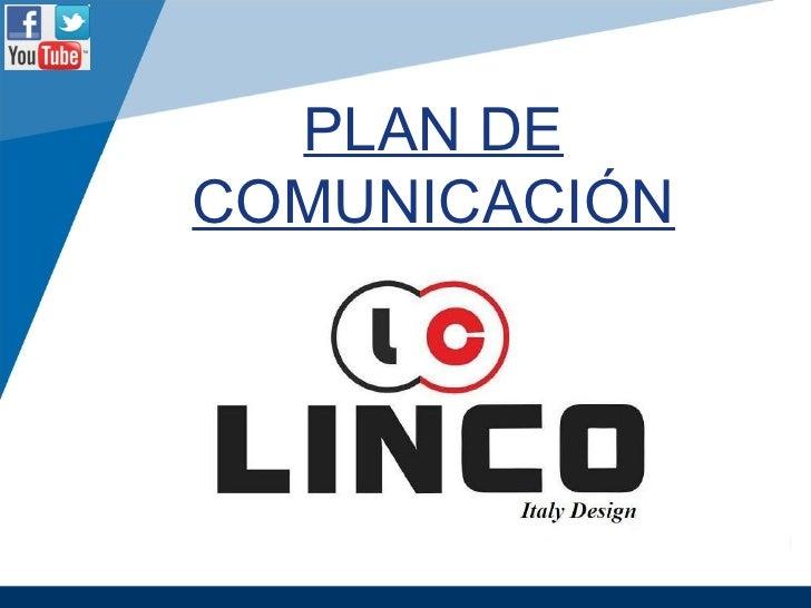 Plan de comunicación - Social Media - Linco