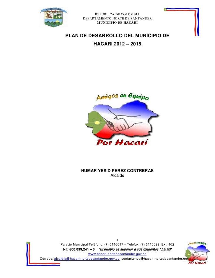 Plan de Desarrollo  Hacari