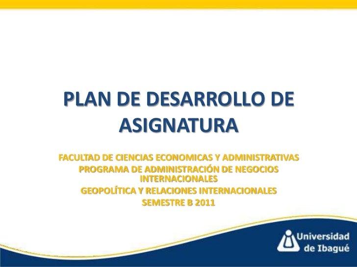 Plan de desarrollo de asignatura geo grupo 3