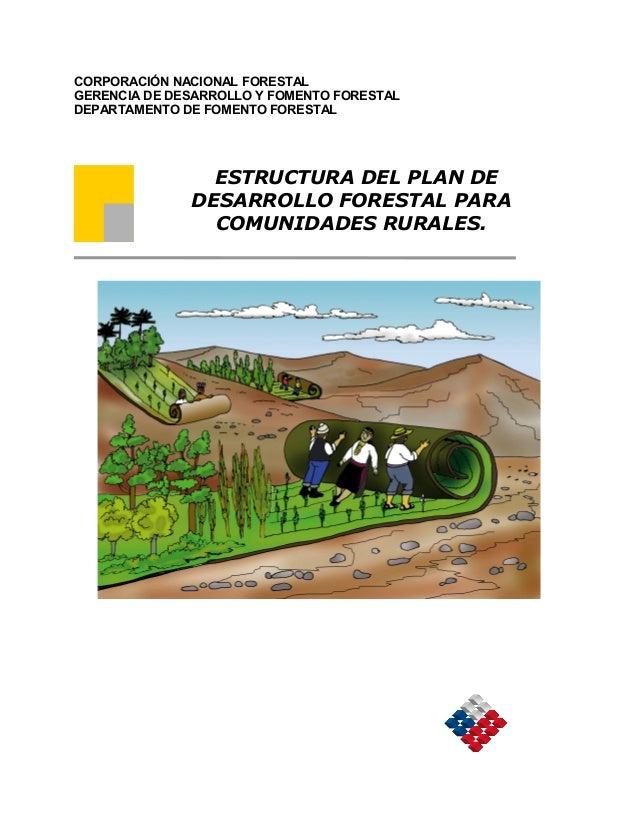 Estructura del Plan Forestal de Desarrollo Comunitario