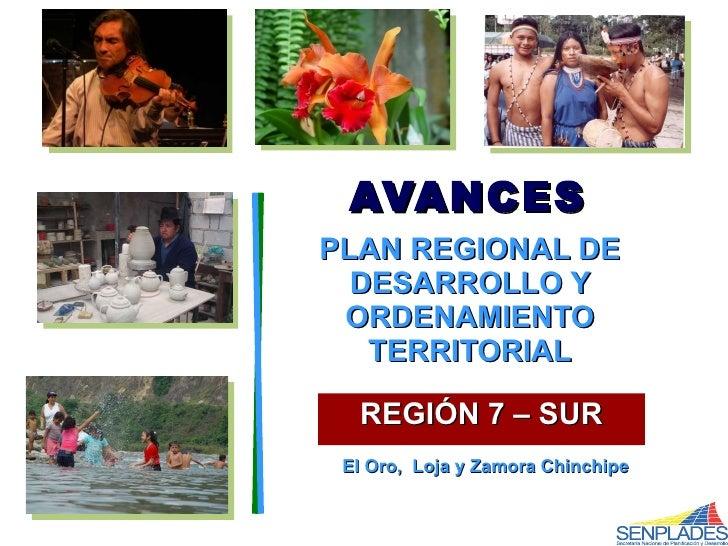 Plan De Desarrollo Region Sur