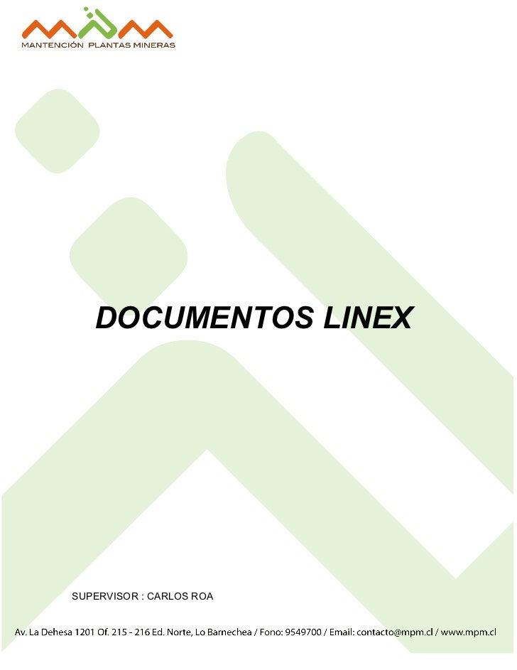 DOCUMENTOS LINEXSUPERVISOR : CARLOS ROA