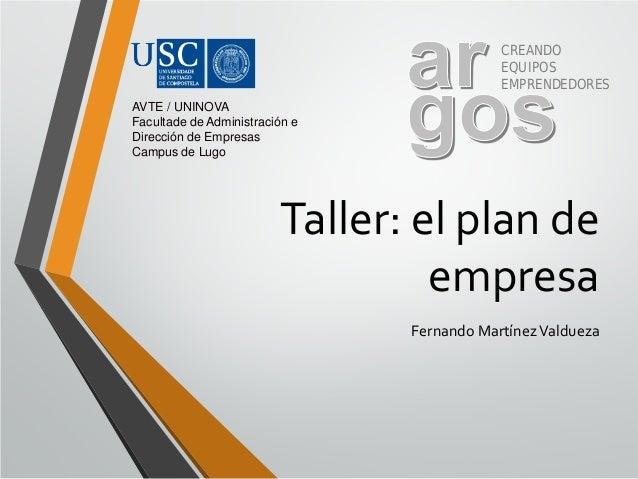 Plan de empresa   ponencia fmv - lugo