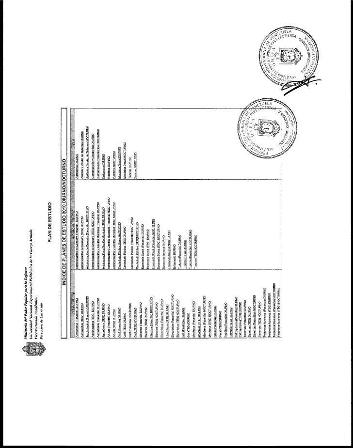 Plan de estudio de pregrado 2010