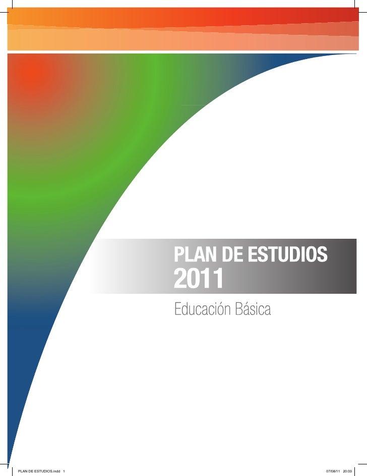 PLAN DE ESTUDIOS.indd 1   07/08/11 20:03