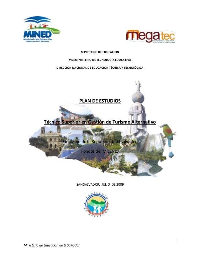 Plan de estudios en bach tec turismo alternativo