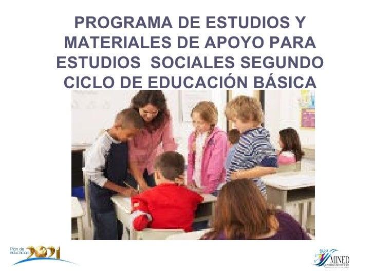 Plan De Estudios Sociales. Segundo Ciclo.