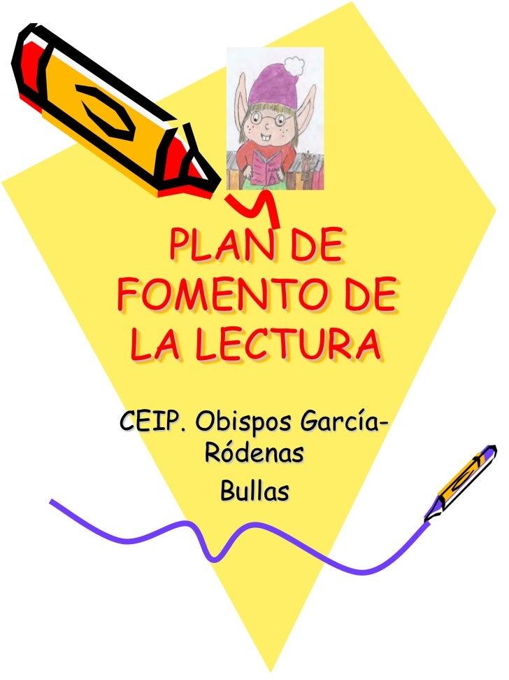 Plan de fomento de la lectura 2011