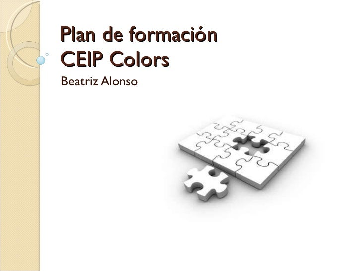 Plan de formación CEIP Colors Beatriz Alonso