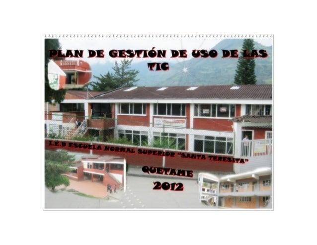 1. Equipo de Gestión Institucional               2. DIAGNÓSTICO INSTITUCIONAL EN EL CAMPO DE LAS TIC    DIFICULTADES      ...