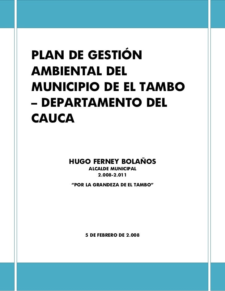 Plan De Gestion Ambiental   Final