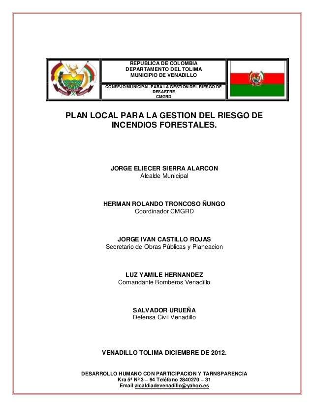 REPUBLICA DE COLOMBIA                  DEPARTAMENTO DEL TOLIMA                   MUNICIPIO DE VENADILLO          CONSEJO M...