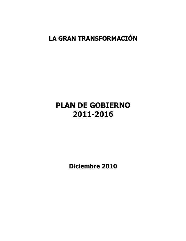 Plan de Gobierno Gana Perú 2011-2016