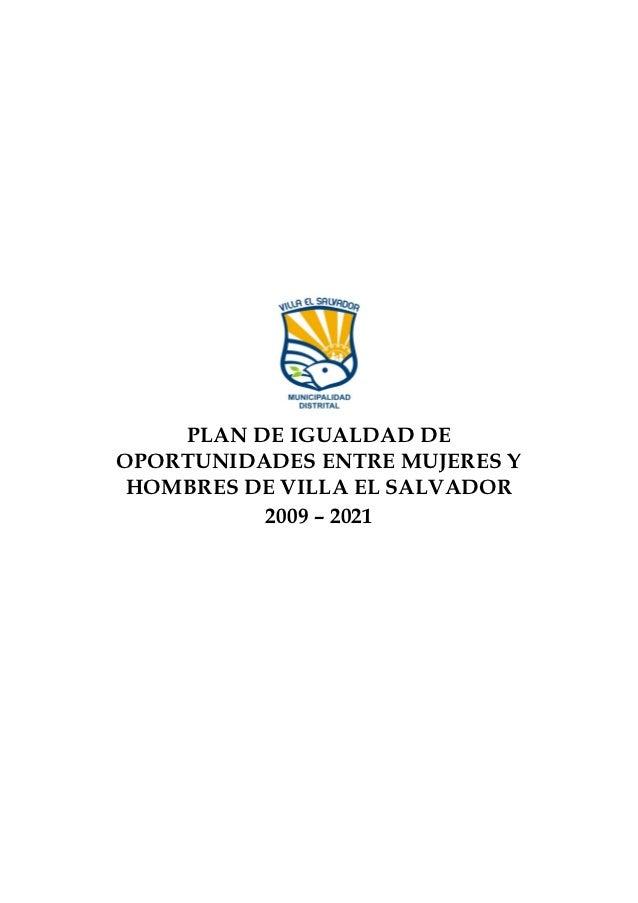 Plan de igualdad de oportunidades entre mujeres y hombres de villa el salvador 09