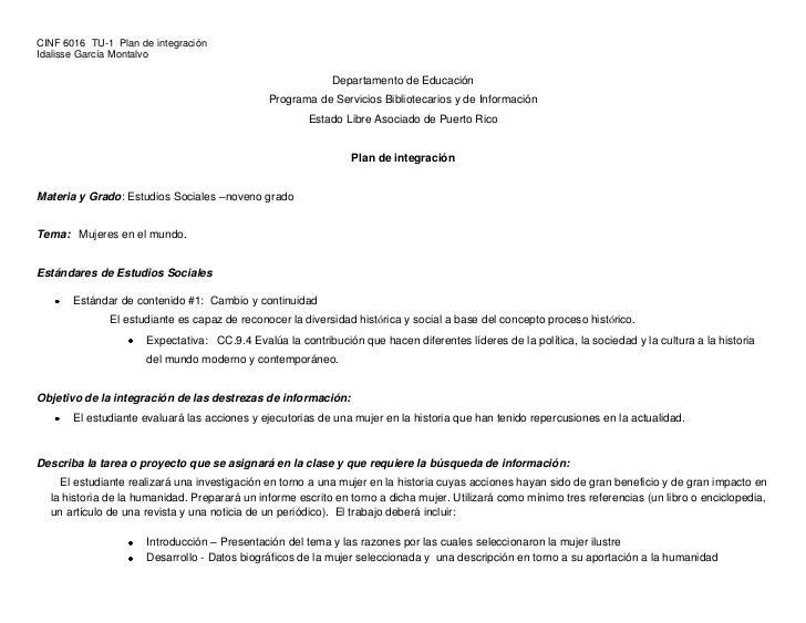 Plan de Integración  Estudios Sociales