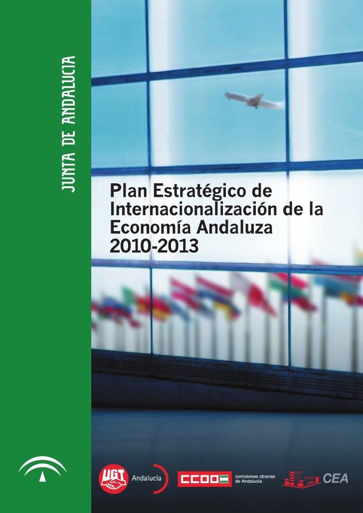 Plan de Internacionalización de la Economía Andaluza 2010-2013