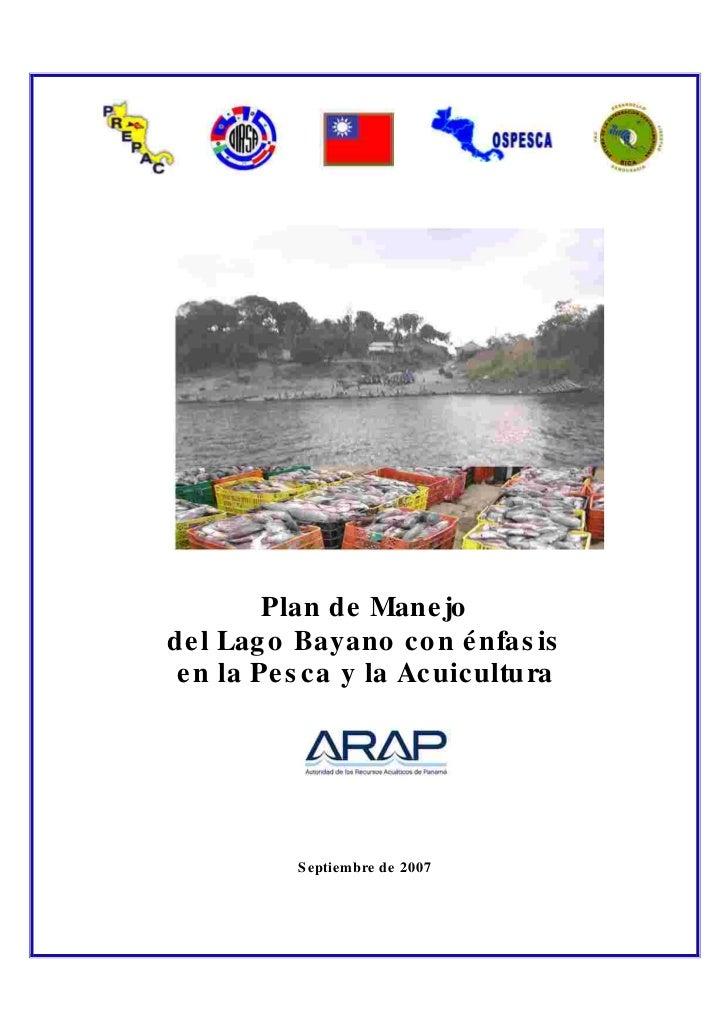 Plan de Manejo Bayano