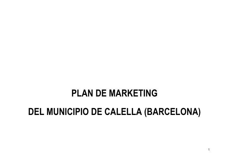 Plan De Marketing De Calella