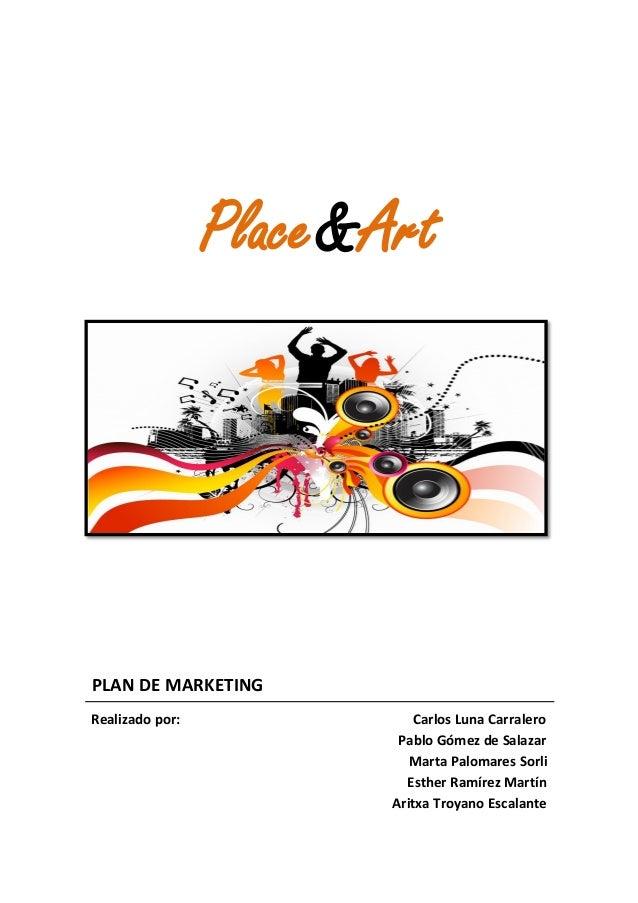 Plan de marketing de Place&Art