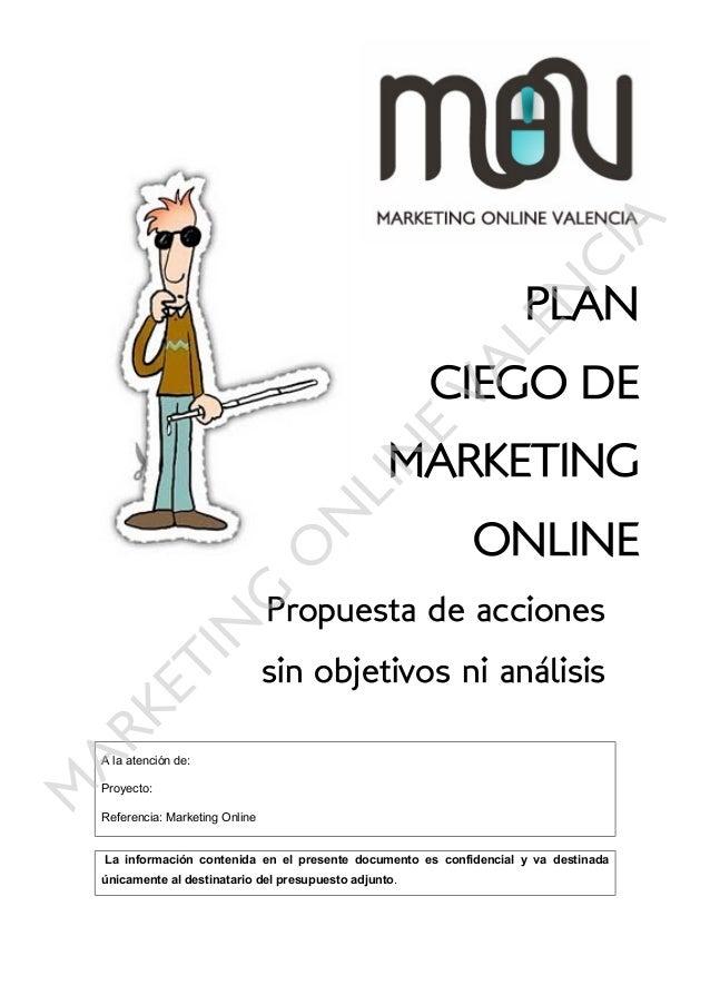 Plan de marketing online ciego