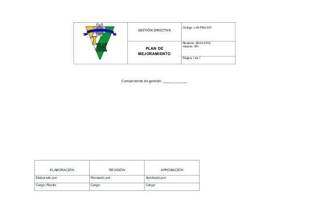 Código: L-DI-PMJ-001                                                GESTIÓN DIRECTIVA                                     ...