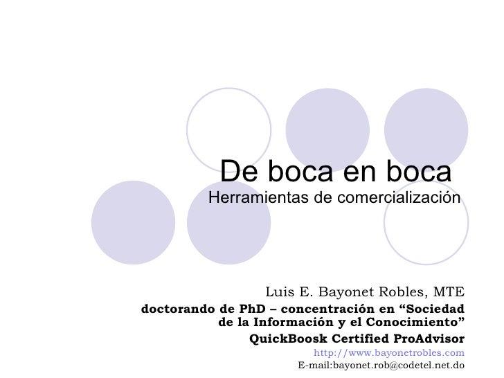 Plan De Mercadeo   Publicidad De Boca En Boca