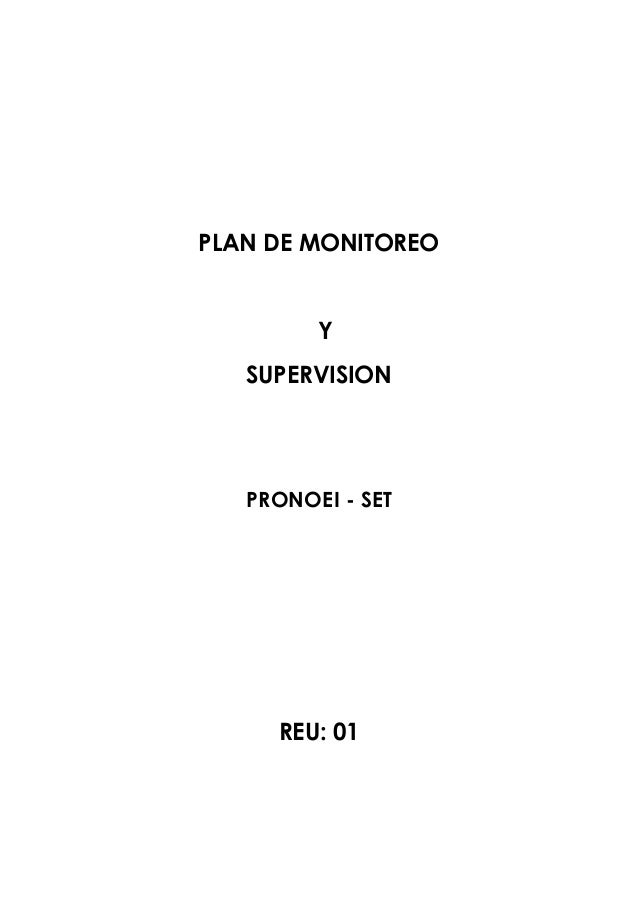 Plan de monitoreo 2013 2
