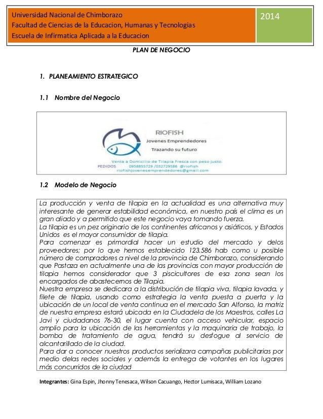 Universidad Nacional de Chimborazo Facultad de Ciencias de la Educacion, Humanas y Tecnologias Escuela de Infirmatica Apli...