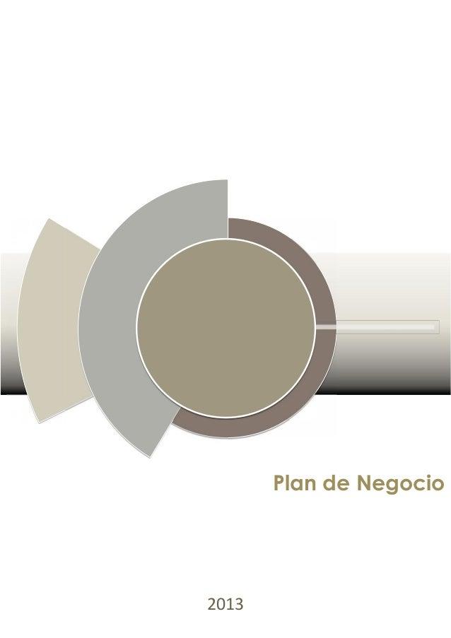 Plan de Negocio2013