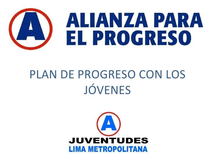 Plan de progreso con los jóvenes