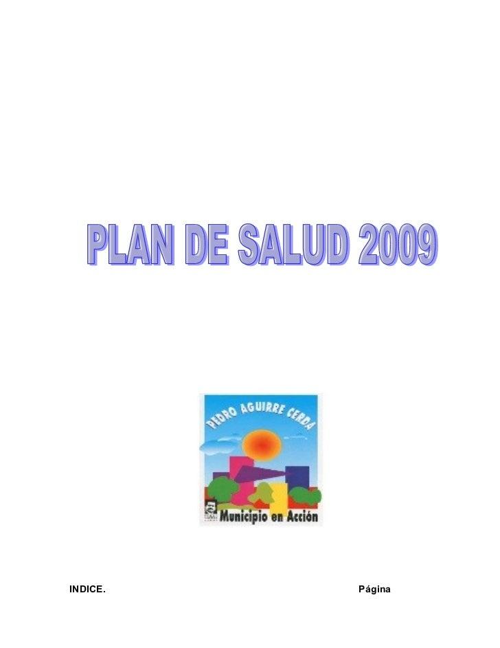 Plan De Salud 2009
