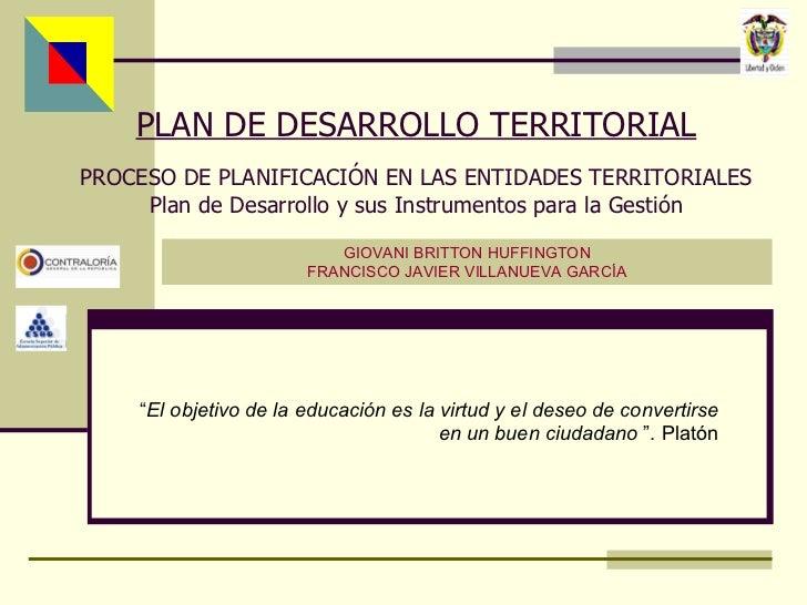 Contenido y Fases del Plan de Desarrollo Territorial en Colombia