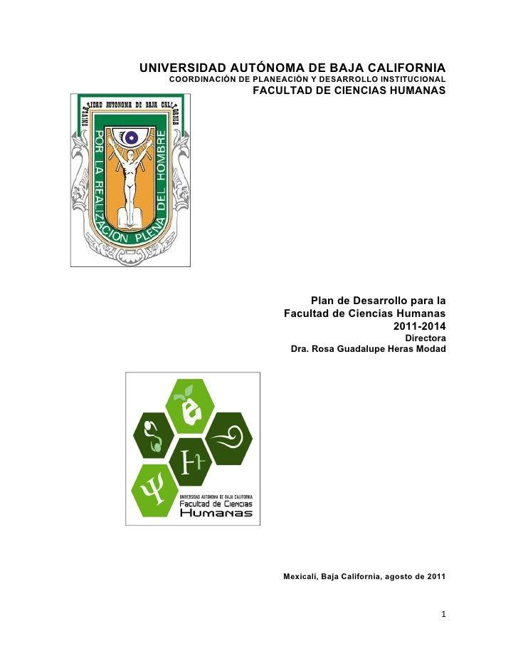 Plan desarrollo fch  2011-2014