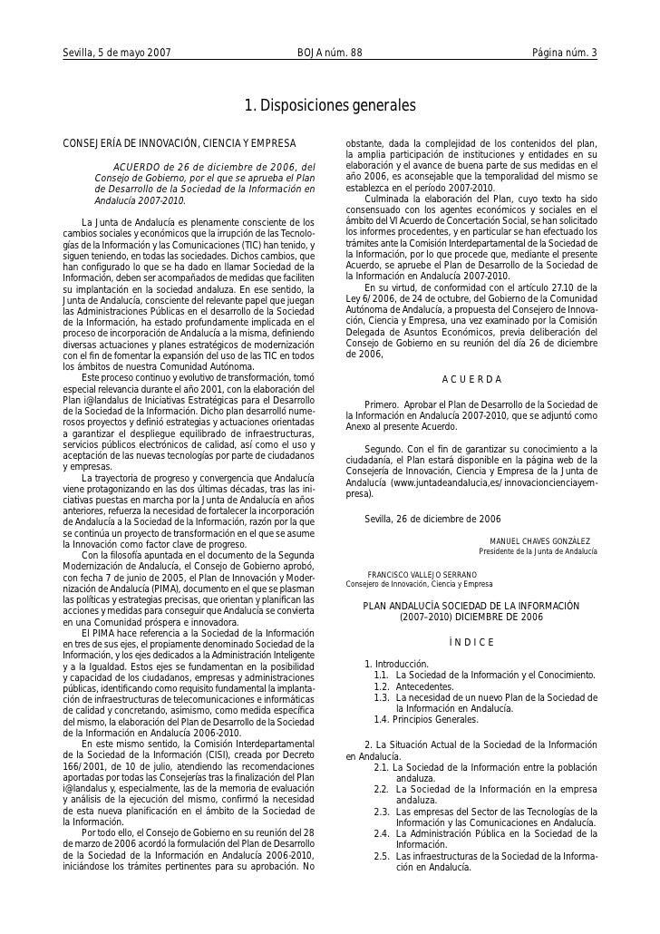 Plan Desarrollo Sociedad Informacion 2007 2010