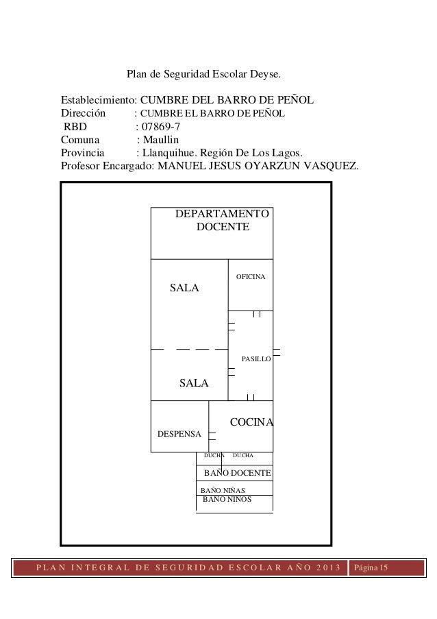 Plan de seguridad escolar 2013 for Pagina de ministerio de seguridad