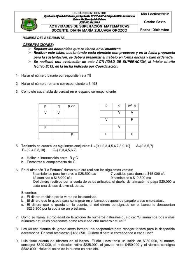 I.E. CÁRDENAS CENTRO                                              Año Lectivo:2012                  Aprobación Oficial de ...