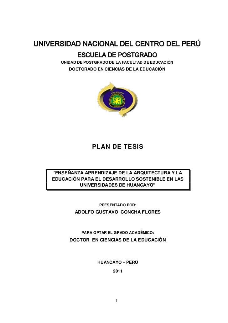 UNIVERSIDAD NACIONAL DEL CENTRO DEL PERÚ             ESCUELA DE POSTGRADO       UNIDAD DE POSTGRADO DE LA FACULTAD DE EDUC...