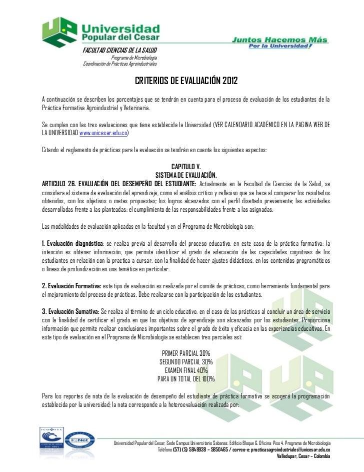 FACULTAD CIENCIAS DE LA SALUD                                  Programa de Microbiología                  Coordinación de ...