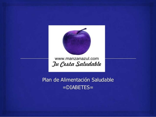 Plan diabetes www.manzanazul.com