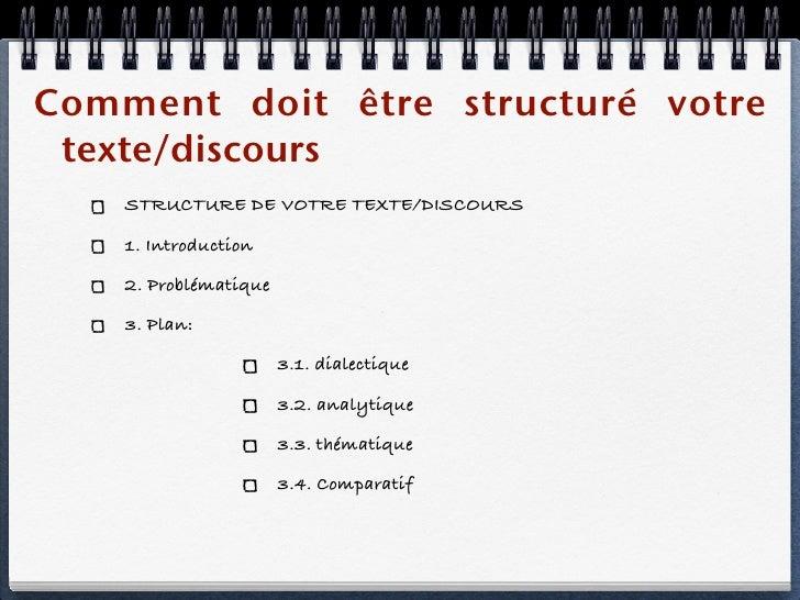 Comment faire dissertation plan dialectique