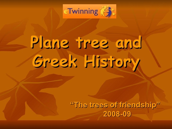 """Plane tree and Greek History """" The trees of friendship""""  2008-09"""
