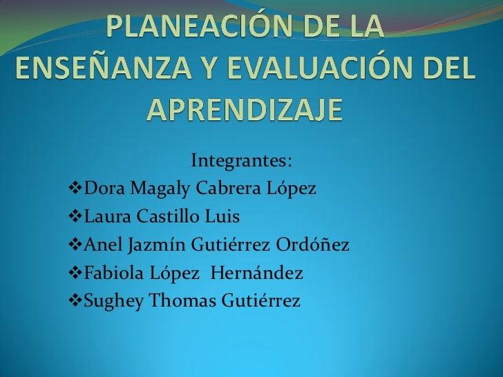 ESQUEMA 5 PLANEACIÓN DE LA E. Y E.A
